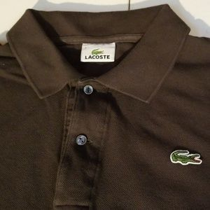 Lacoste Shirts - Lacoste Polo Shirt Charcoal/Gray Sz 7